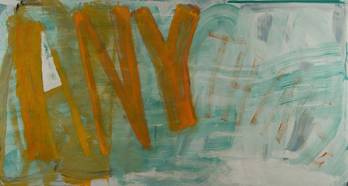ANYTHING - ANYTHING - 2006 - Oil on canvas on panel - 45 x 84 inches
