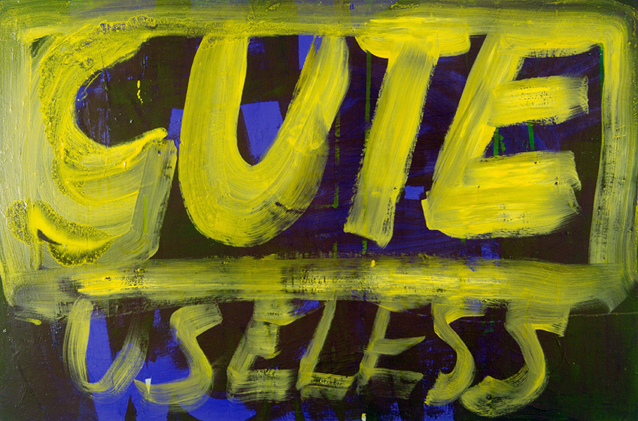 CUTE-AND-USELESS - 2006 - Oil on panel - 24 x 36 inches