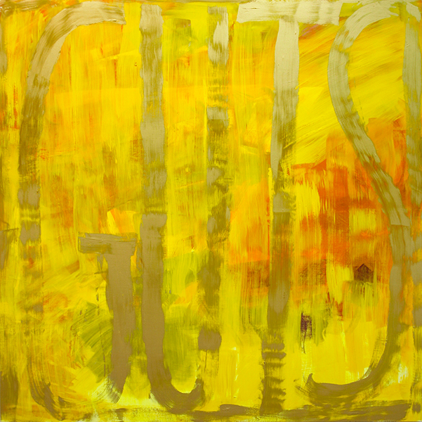 GUTS yellow-gold - 2007 - Oil on panel - 60 x 60 inches
